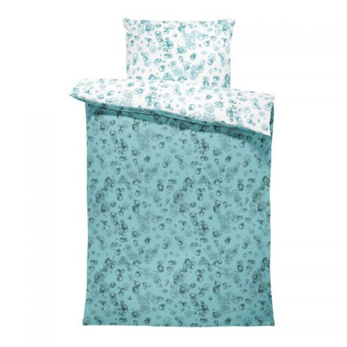 Flora-L bedsheet isolated cells teal