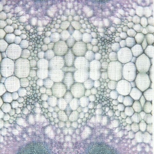 Fabric swatch flower stem purple
