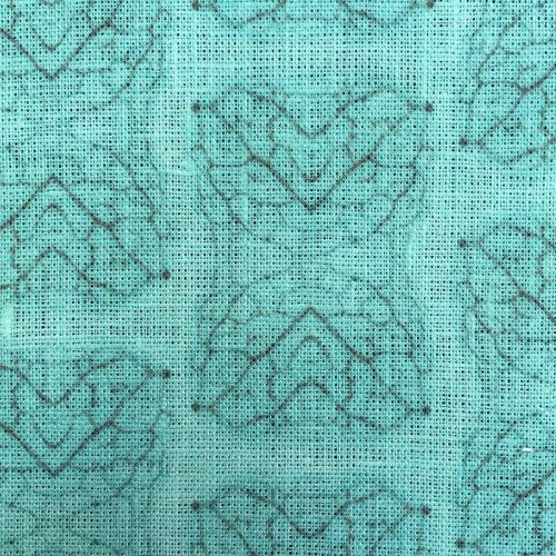 Leaf vein fabric swatch teal