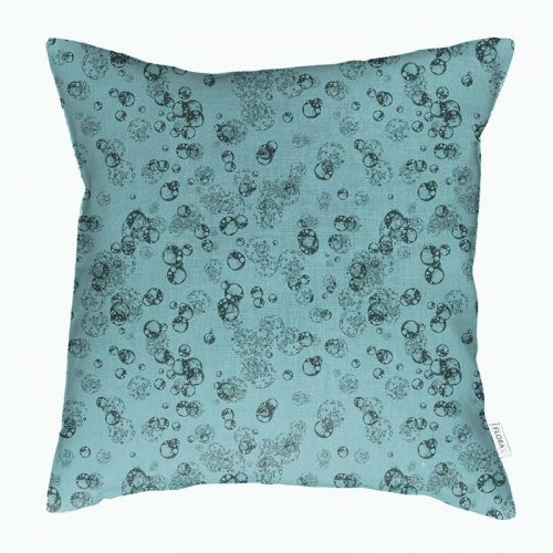 Cushion cover isolated cells teal on teal