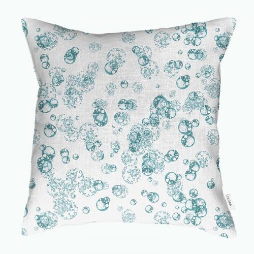 Cushion cover isolated cells teal on white