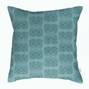Linen cushion cover – Leaf veins