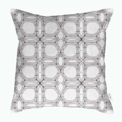 Linen cushion cover aspen wood fiber pattern