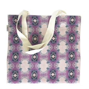 Linen tote bag — FloraL stem fibers