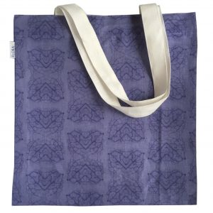 Linen tote bag — Leaf veins