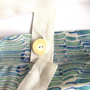Linen convertible bag — Birch bark