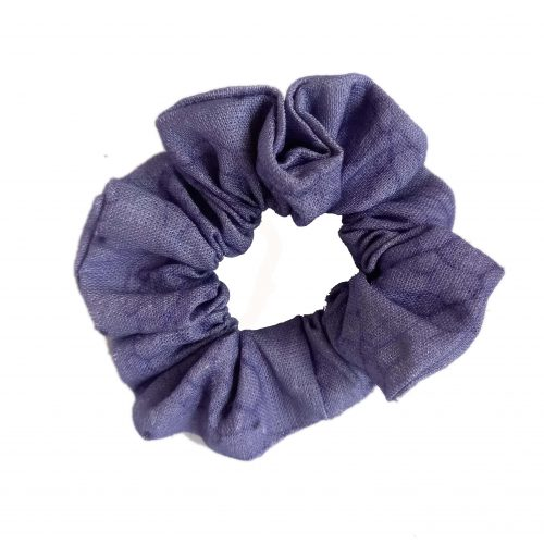 Linen scrunchy leaf vein purple