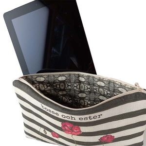 Linen tablet pouch – Poppy