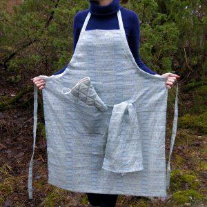 Linen apron – Birch bark