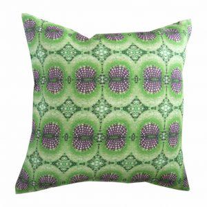 Linen cushion cover – Dandelion leaf vein