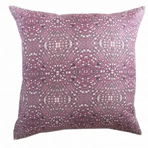 Linen cushion cover – Heather woody stem