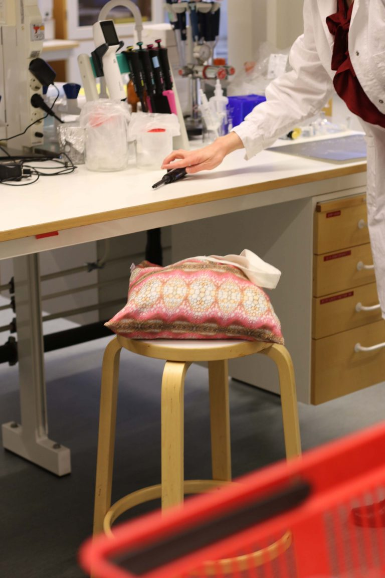 Lab environment with Flora-L cushion
