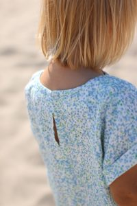 linen hummingbird tunic with back opening