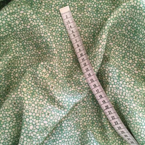 Linen fabric linnea stem pith green